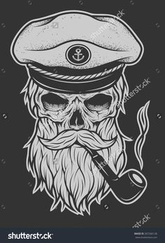 tobacco pipe sailor skyll tattoo - Google Search
