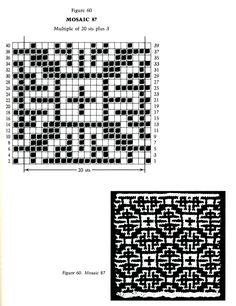 Mosaic Knitting Barbara G. Walker (Lenivii gakkard) Mosaic Knitting Barbara G. Walker (Lenivii gakkard) #78