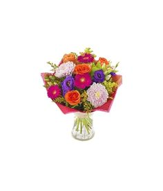 A vivacious bouquet with lovely assorted, colourful flowers for true lovers and lovely couple. Fresh Flowers, Colorful Flowers, Flower Delivery Service, Flowers Delivered, Local Florist, Bouquet, Bouquet Of Flowers, Bouquets, Floral Arrangements