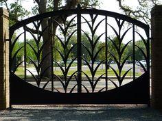 Art Deco gate by Enrique Alferez. City Park, New Orleans  Copyright Jen Ralston 2012