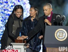 The First Family lit the National Christmas Tree in the White House's annual tree lighting ceremony on Dec. 1 in Washington, D.C. Garth Brooks, Trisha Yearwood, Marc Anthony, Chance the Rapper, Yolanda Adams, James Taylor, and Kelly Clarkson performed at the ceremony which was hosted by actress Eva Longoria.