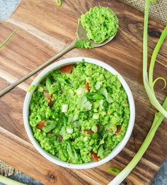 This pea guacamole tastes so much like the real thing that most people won't be able to guess what it is made from!