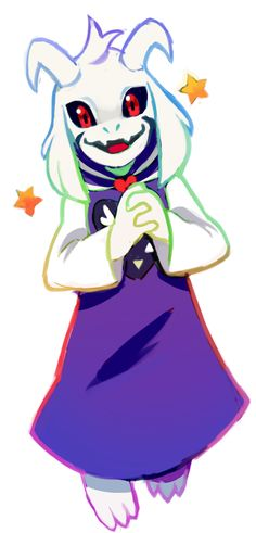 Adult Asriel is being too cute for this world. (artist unknown)