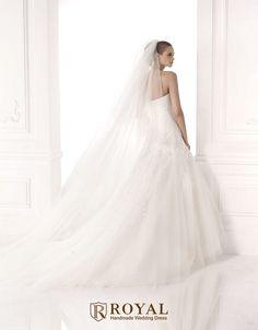 板橋蘿亞手工婚紗 Royal handmade wedding dress 婚紗攝影 購買婚紗 單租婚紗 西班牙 Pronovias MAJORIE