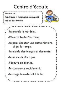 Read In French, French Class, Daily 5 Reading, Teaching Reading, French Teacher, Teaching French, Education And Literacy, Literacy Centers, Ontario Curriculum