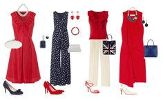 How to wear Red white and blue