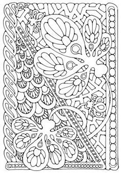 fractal coloring pages   coloring page
