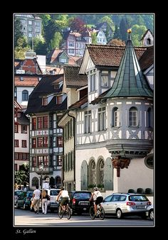 Old Town Sankt Gallen with many of de houses n buildings from de 16th n 18th century_ East Switzerland