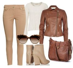 camel jeans and tan jacket