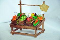 Accessorio presepe - Banco frutta e verdura