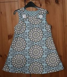 little girl reversible A-line dress