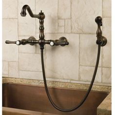 Felicity WallMount Kitchen Faucet with Side Spray Wall mount