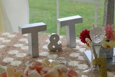silver block initials for Teapots and Tiaras