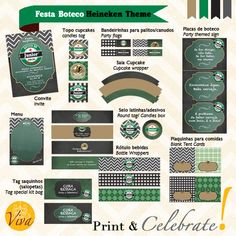 Bar Party Beer theme PERSONALIZED Printable Party Package - INVITATION INCLUDED