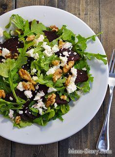 Легкий салат с рукколой и свеклой - Mom Story