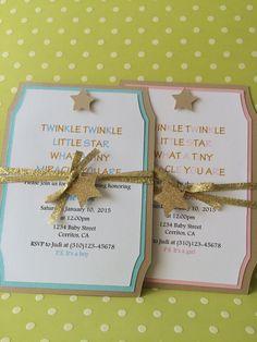 Handmade Twinkle Little Star Baby Shower by forLittleSmiles