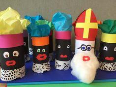 Sinterklaas en zwarte piet van een wc rol - hier vind je het stappenplan met…