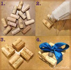DIY: Wine cork coasters