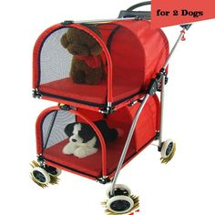 Double Layer Pet Stroller Good for Two Dog and Cat