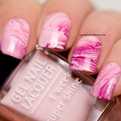 Pink Nail art celebrating the ongoing research of breast cancer - http://www.mynailpolishonline.com/2015/10/nail-art-2/pink-nail-art-celebrating-the-ongoing-research-of-breast-cancer/