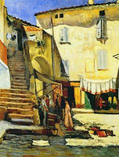 Camoin, Charles (French, 1879-1965) - La Place aux Herbes à Saint Tropez - 1905 | Flickr - Photo Sharing!