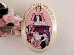 Metal Gift Box Norman Rockwell Scene Grandmothers Are Special VTG Avon Tin #Avon