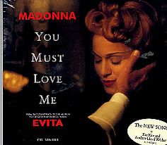 """For Sale - Madonna You Must Love Me USA  CD single (CD5 / 5"""") - See this and 250,000 other rare & vintage vinyl records, singles, LPs & CDs at http://eil.com"""