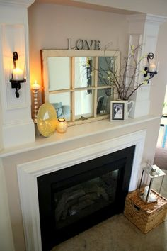 Mirror above the mantle