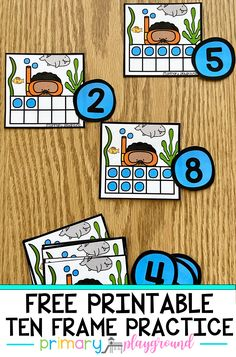 Your students will have fun practicing their ten frames with these fun snorkel activities! #tenframes #kindergarten #mathactivities