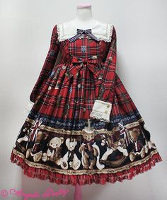 Angelic Pretty - British Bear OP or JSK - Wine