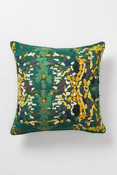 embroidered Anthropologie pillow