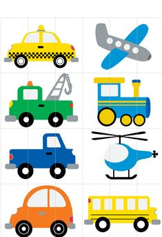 1 million+ Stunning Free Images to Use Anywhere Preschool Puzzles, Toddler Preschool, Preschool Crafts, Preschool Transportation Crafts, Transportation Theme, Fun Worksheets For Kids, Math For Kids, Preschool Learning Activities, Infant Activities