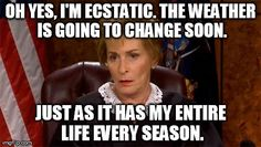Judge Judy is unimpressed by Fall