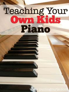 Teaching piano to your own kids