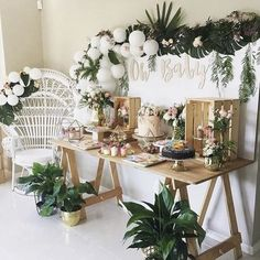 Trendy baby shower backdrop ideas diy simple Ideas - Everythink for Babyshower Baby Shower Centerpieces, Baby Shower Favors, Baby Shower Parties, Baby Boy Shower Decorations, Baby Shower Table Set Up, Baby Shower Backdrop, Boy Decor, Baby Shower Balloons, Birthday Decorations