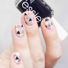Negative Space Nails by @lenareitz; see the full nail art gallery at…