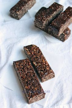 Barras-de-avena,-cereal-y-chocolate03 Oatmeal Bars, Granola Bars, Real Food Recipes, Healthy Recipes, Brownie Bites, Cheat Meal, Breakfast On The Go, Muffins, Energy Bites