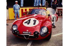 24 heures du Mans 1964 - Alfa-Roméo TZ1 #41 - Pilotes : Giampiero Biscaldi / Giancarlo Sala - 15ème