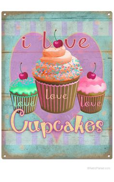 Yummy Cupcakes Canvas Poster Art Picture Prints Kitchen Wall Hanging Decor HY2
