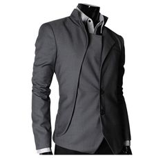 Pair this futuristic Jacket with a cool lime green or hot scarlet shirt and watch the ladies spontaneously combust!