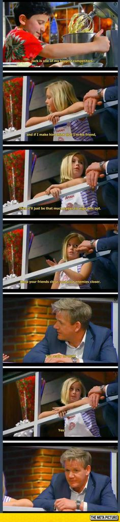 A 9 Years Old Girl On Master Chef. The Last Picture Is A Face Of Fear