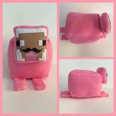 Pink Sheep, You Tuber, Plushie, Stuffie Loaf
