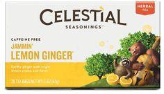 Celestial Seasonings Jammin' Lemon Ginger Herbal Tea, 20 Count