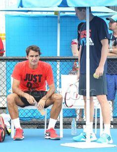 Roger Federer and Stefan Edberg in Melbourne