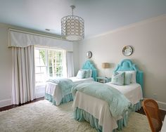 Traditional Bedroom Kids Rooms Design, Pictures, Remodel, Decor and Ideas - Love the headboards