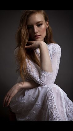 Listen to every Freya Ridings track @ Iomoio # Female Of The Species, Beautiful People, Beautiful Women, Redheads, Beauty Makeup, White Dress, Celebs, Face, Singers
