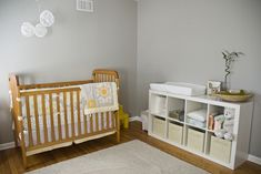 Ikea expedit as changing table w/ drawers: using this idea!