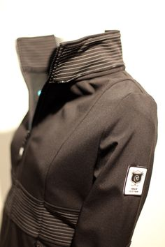 The Rider Jacket.  This is a lightweight, hip-length jacket for spring/summer. Looks great on and we love the top-stitching...the styling kind of makes us all ride around on motorcycles!  www.asmarequestrian.com
