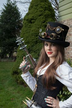 Steampunk Raygun. Steampunk weapon, Steampunk invention. A one of a kind gun made from found objects.