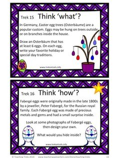 Easter Traditions around the World, including 24 creative and critical thinking task cards, Easter printables and answer sheets, 55 Word Wall cards and 2 printable posters... $